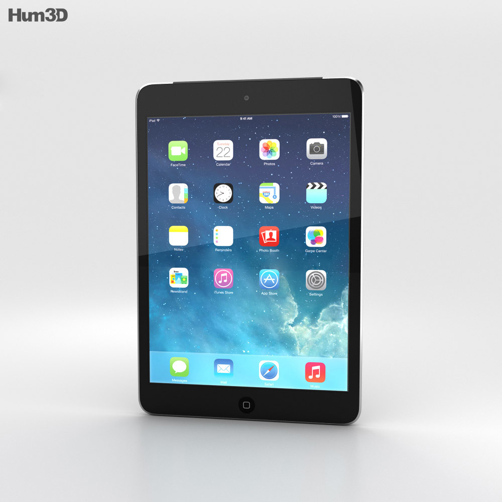 Apple iPad Mini 2 Cellular Space Grey 3d model