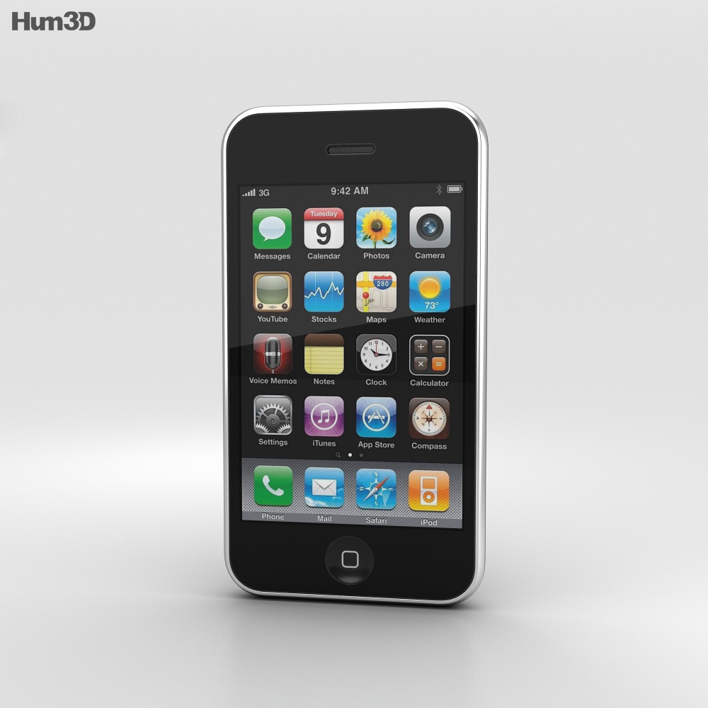 Apple iPhone 3G Black 3d model