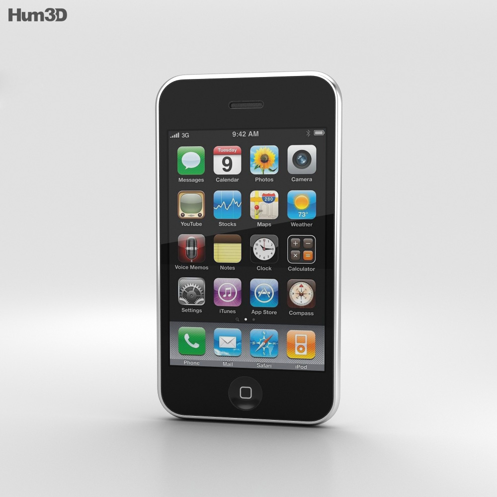 Apple iPhone 3G White 3d model