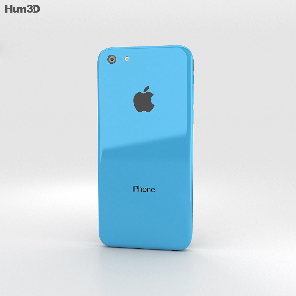 Apple iPhone 5C Blue 3d model