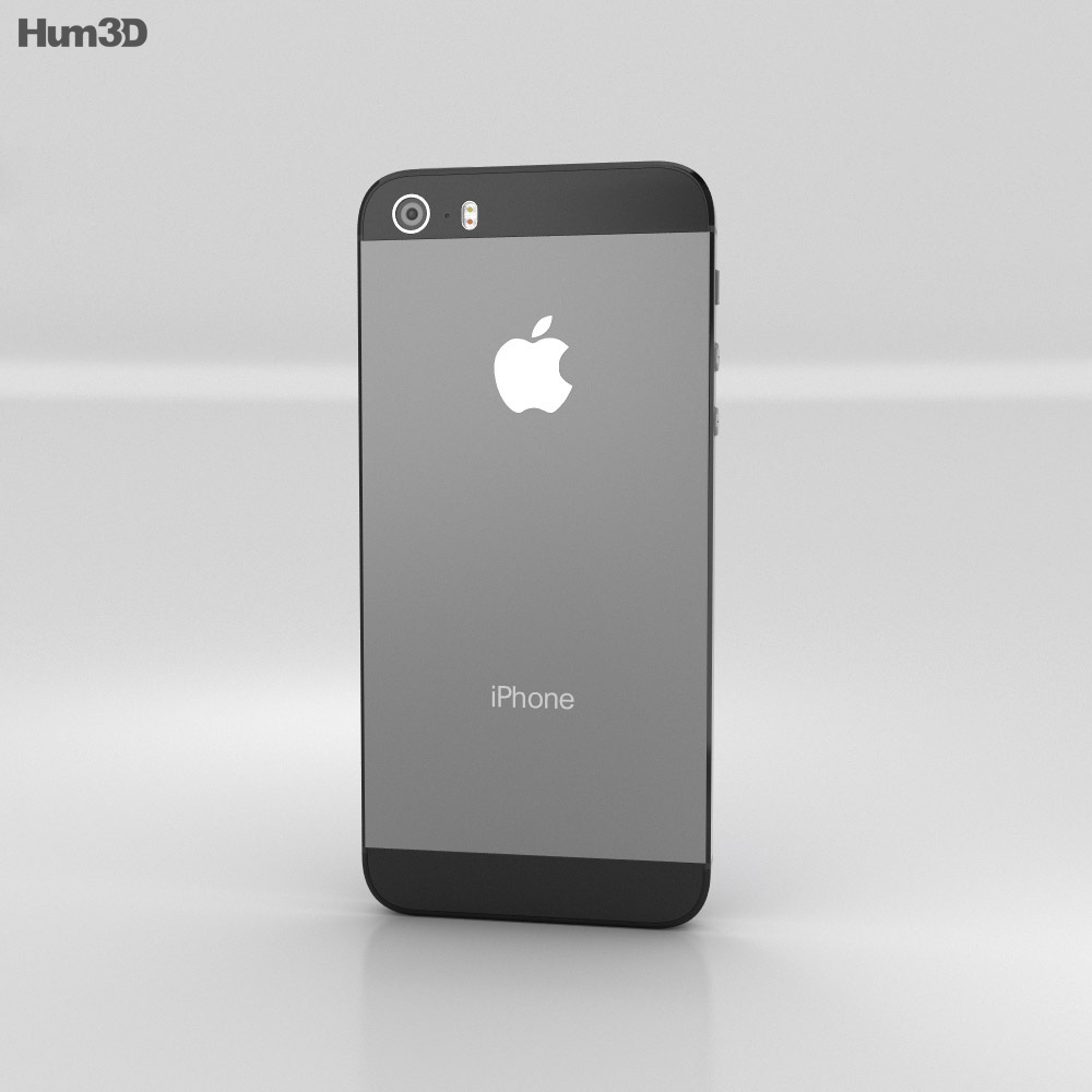 Apple iPhone 5S Space Gray (Black) 3d model