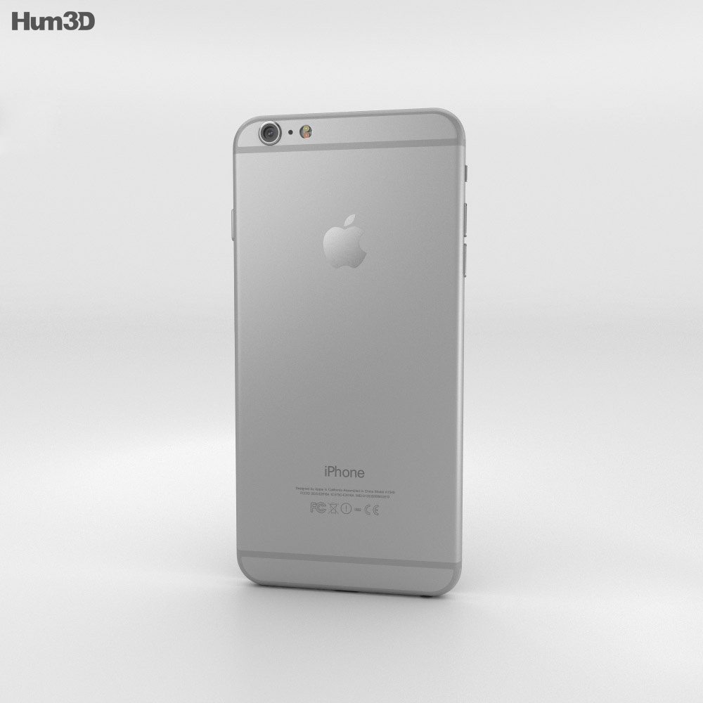 Apple iPhone 6 Plus Silver 3d model