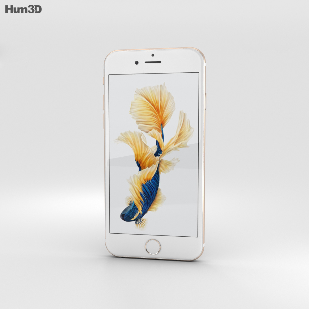 Apple iPhone 6s Gold 3d model