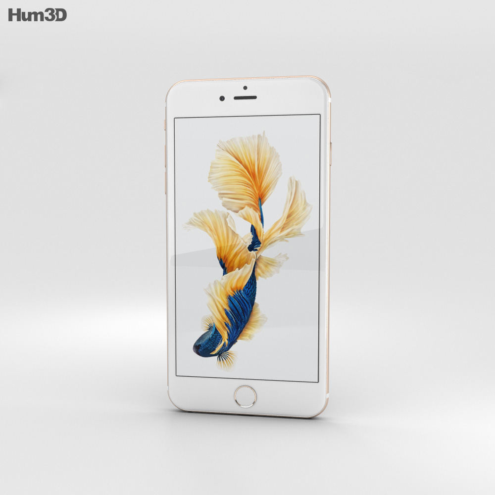 Apple iPhone 6s Plus Gold 3d model
