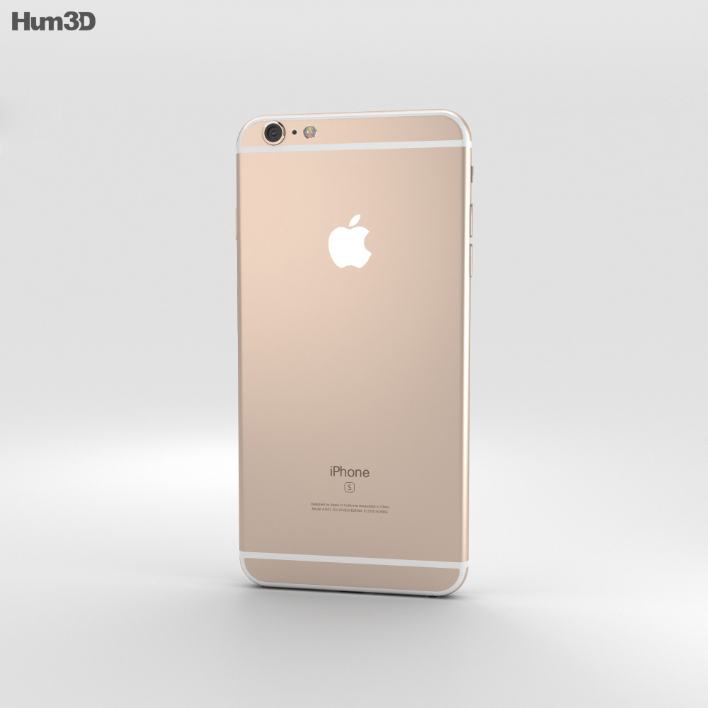 iphone 6s plus models apple iphone 6s plus gold 3d model hum3d 15143