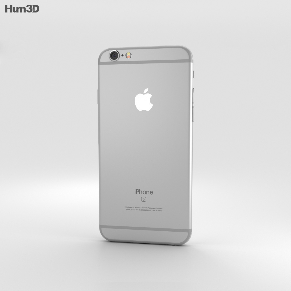 iphone 6s models apple iphone 6s silver 3d model hum3d 11486