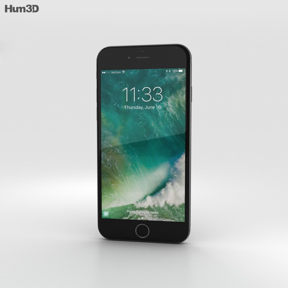 Apple iPhone 7 Black 3d model