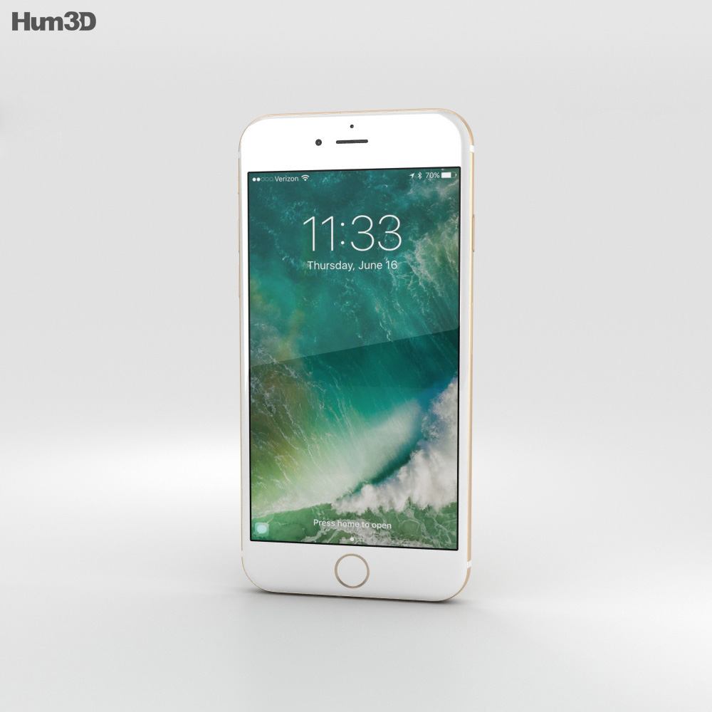 Apple iPhone 7 Gold 3d model
