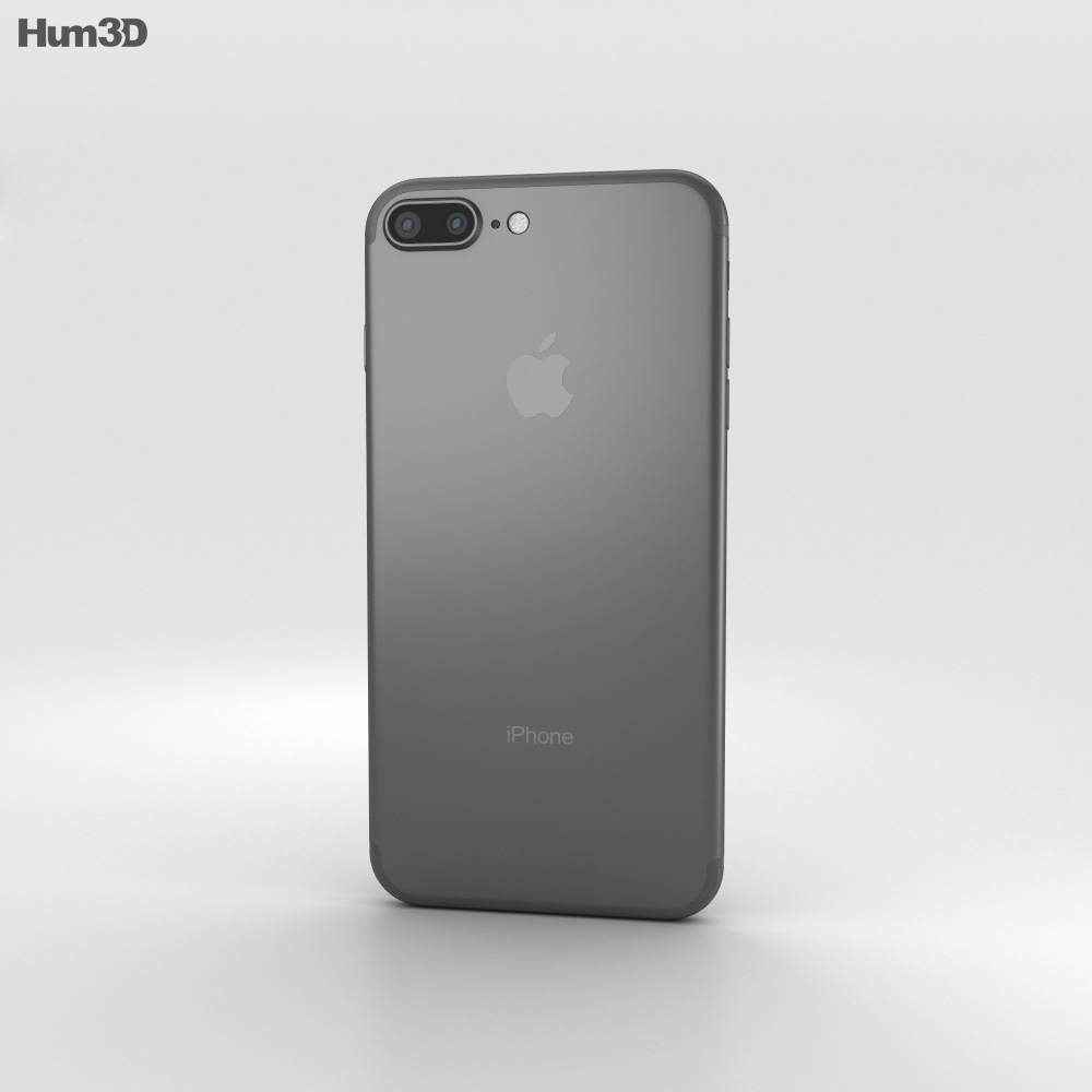 iphone 7 model apple iphone 7 plus black 3d model hum3d 11540