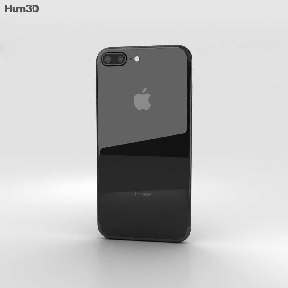 Apple Iphone 7 Plus Jet Black 3d Model Humster3d