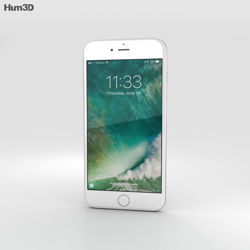 Apple iPhone 7 Plus Silver 3d model