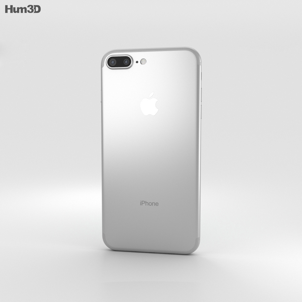 Apple iPhone 7 Plus Silver 3d model