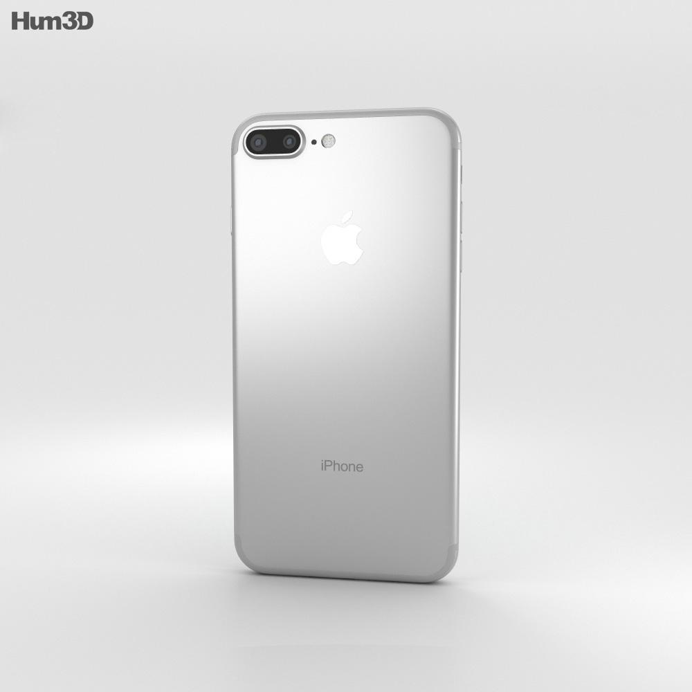 apple iphone 7 plus silver. apple iphone 7 plus silver 3d model iphone
