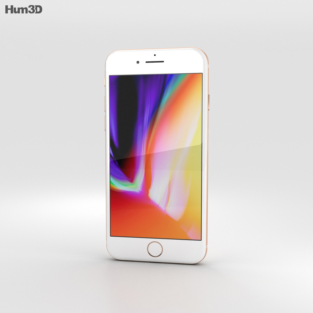 Apple iPhone 8 Gold 3d model
