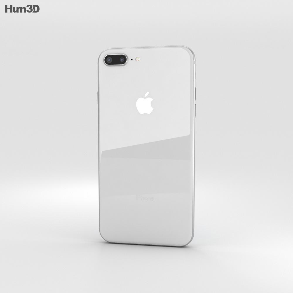 Apple iPhone 8 Plus Silver 3d model