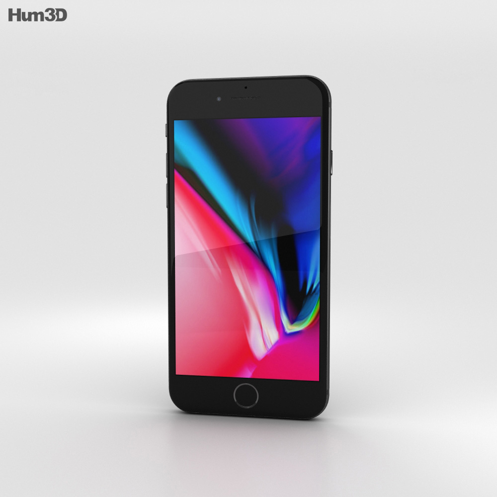 Apple iPhone 8 Space Gray 3d model