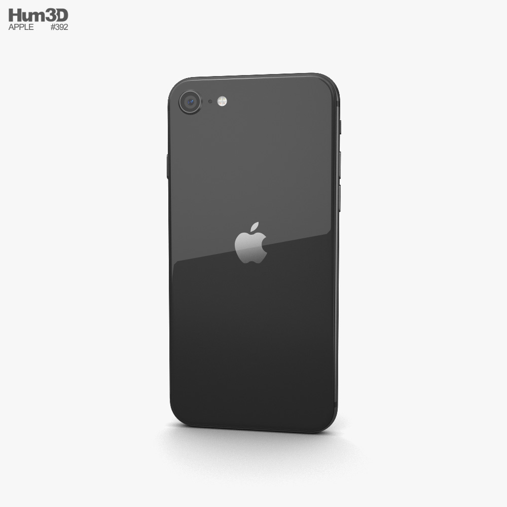 Apple iPhone SE (2020) Black 3d model