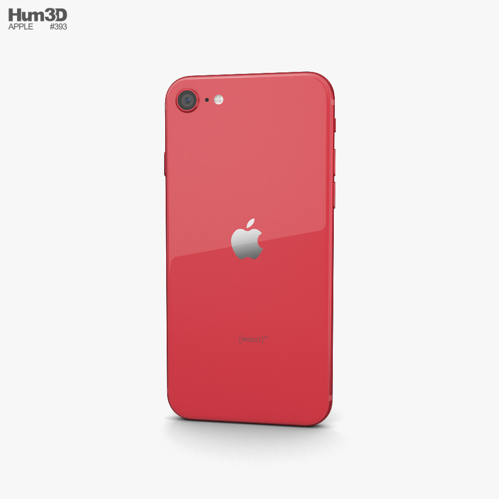 Apple iPhone SE (2020) Red 3d model