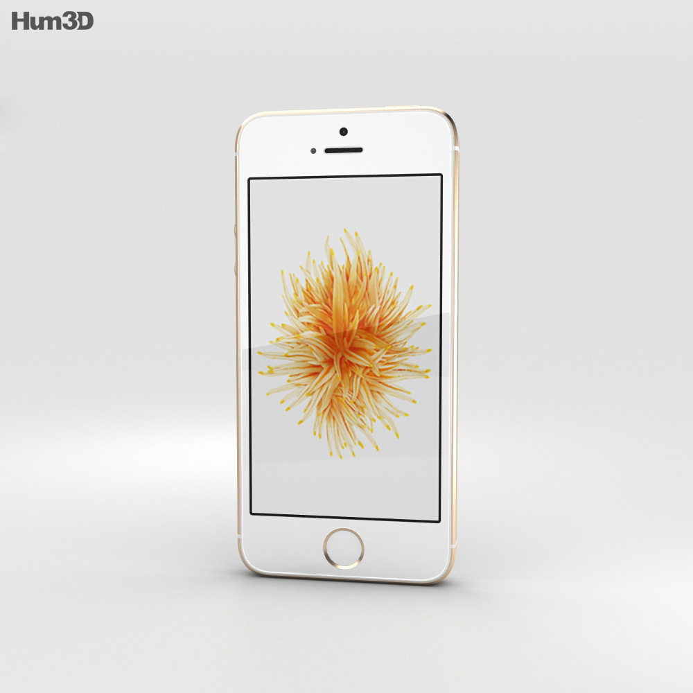Apple iPhone SE Gold 3d model
