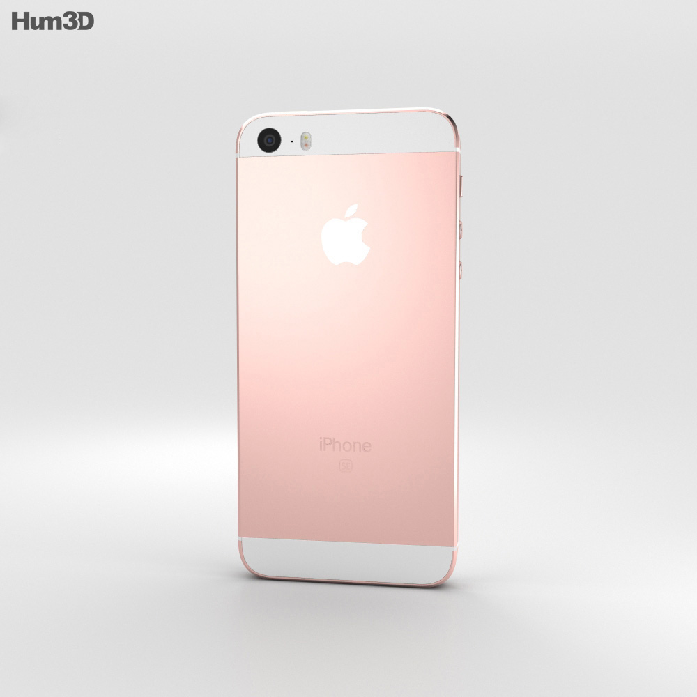 Apple Iphone Se Rose Gold 3d Model Humster3d