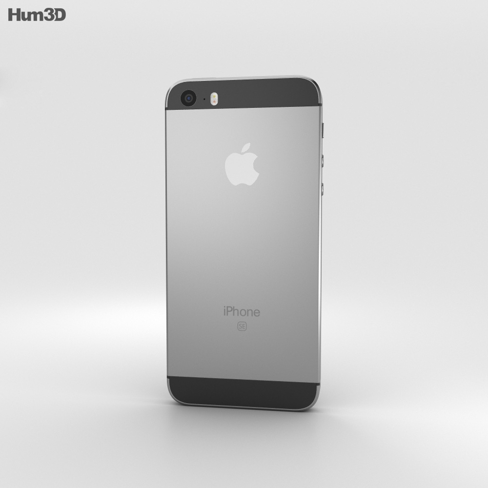 Apple iPhone SE Space Gray 3d model