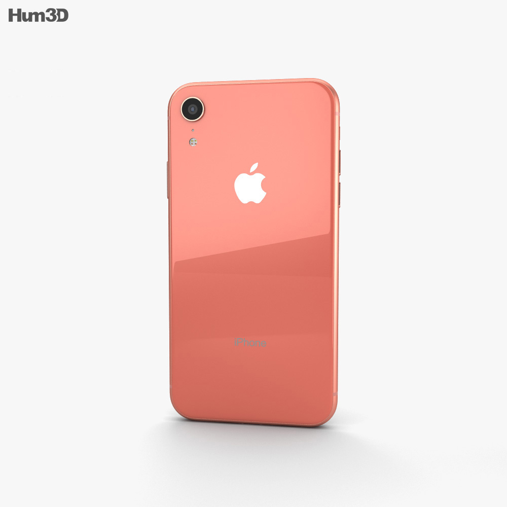Apple iPhone XR Coral 3d model