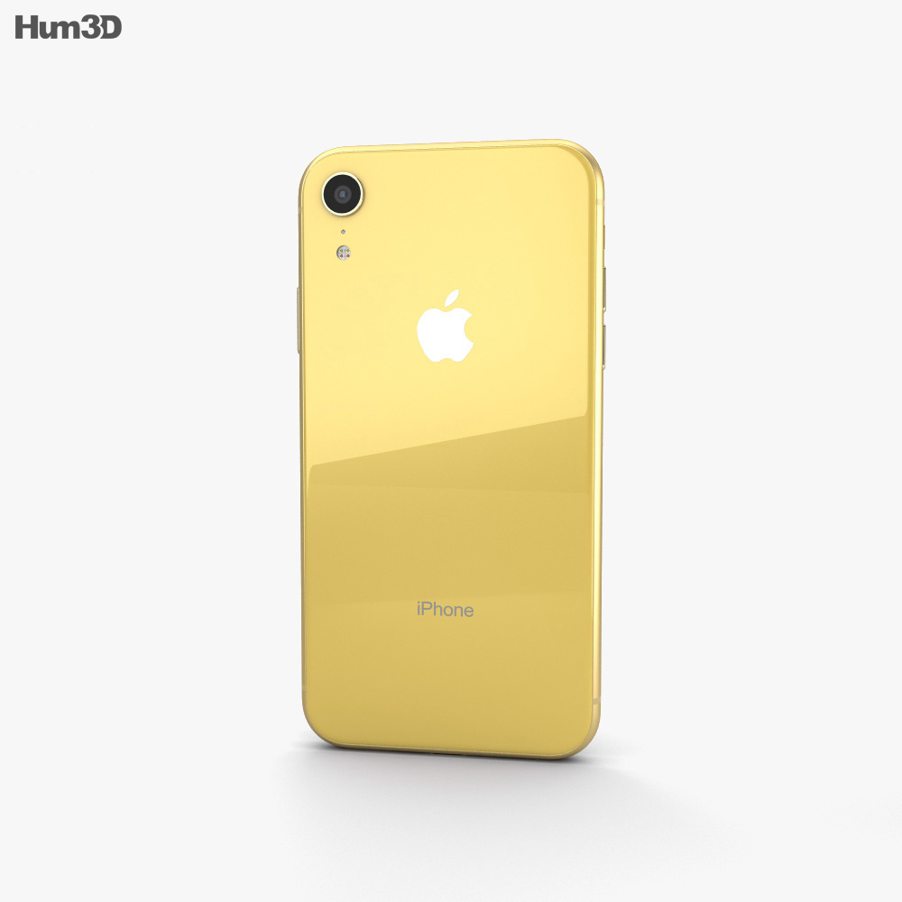 Apple iPhone XR Yellow 3d model