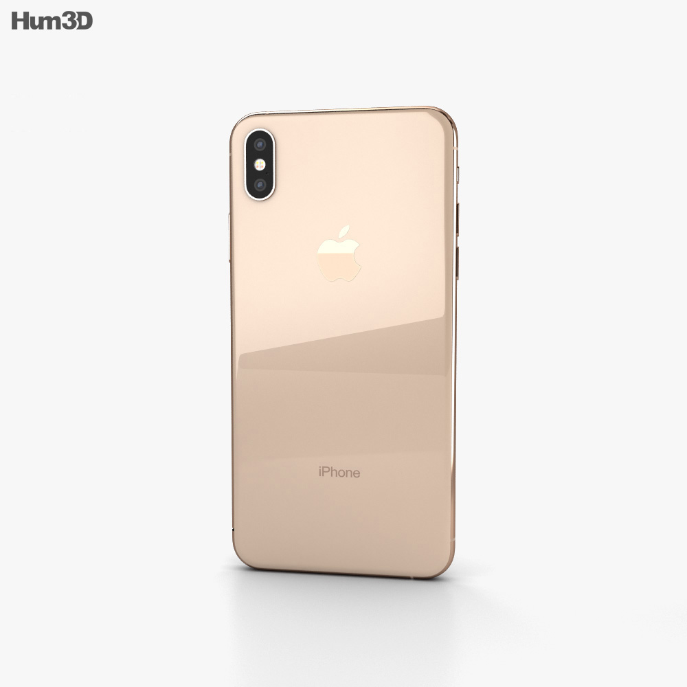 Apple iPhone XS Max Gold 3d model