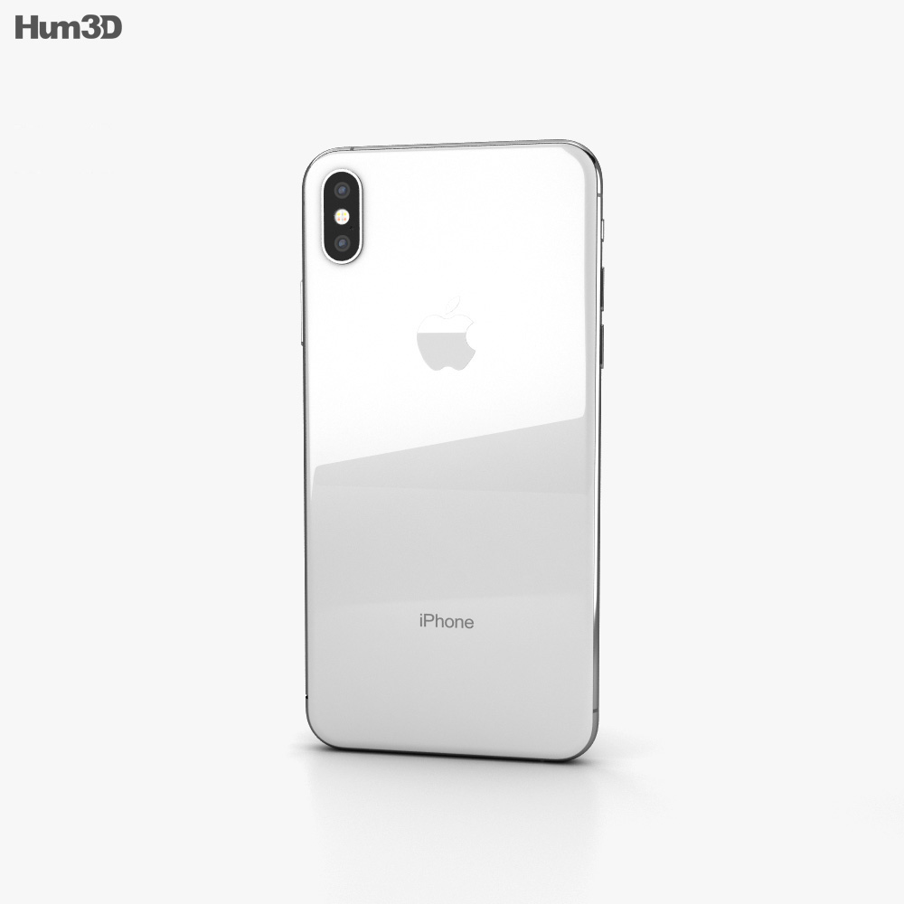 Apple iPhone XS Max Silver 3d model