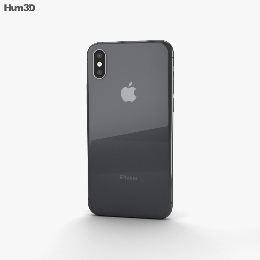 Apple iPhone XS Space Gray 3d model