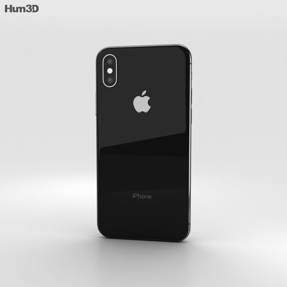 apple iphone x space gray 3d model hum3d. Black Bedroom Furniture Sets. Home Design Ideas