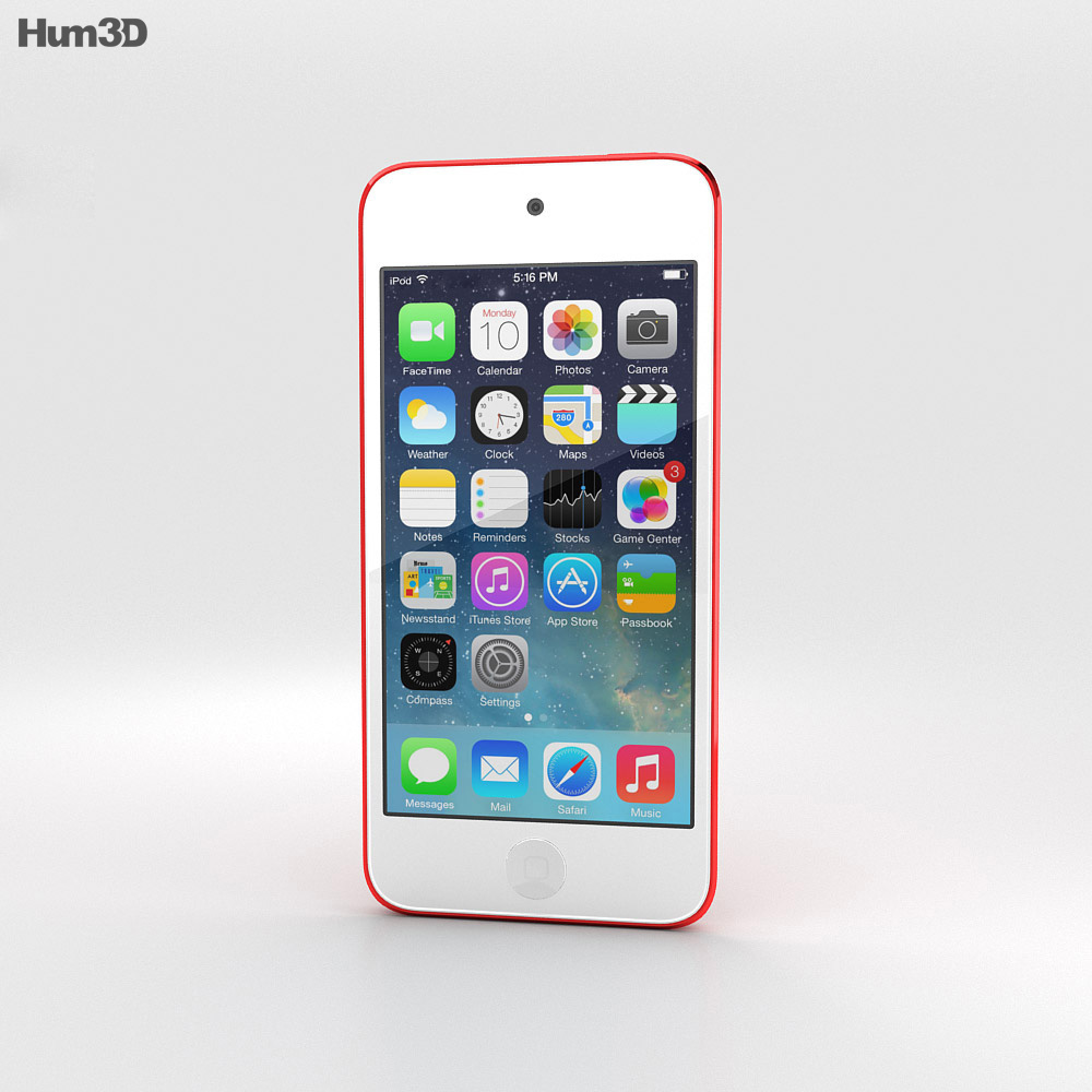 Apple iPod Touch Red 3d model