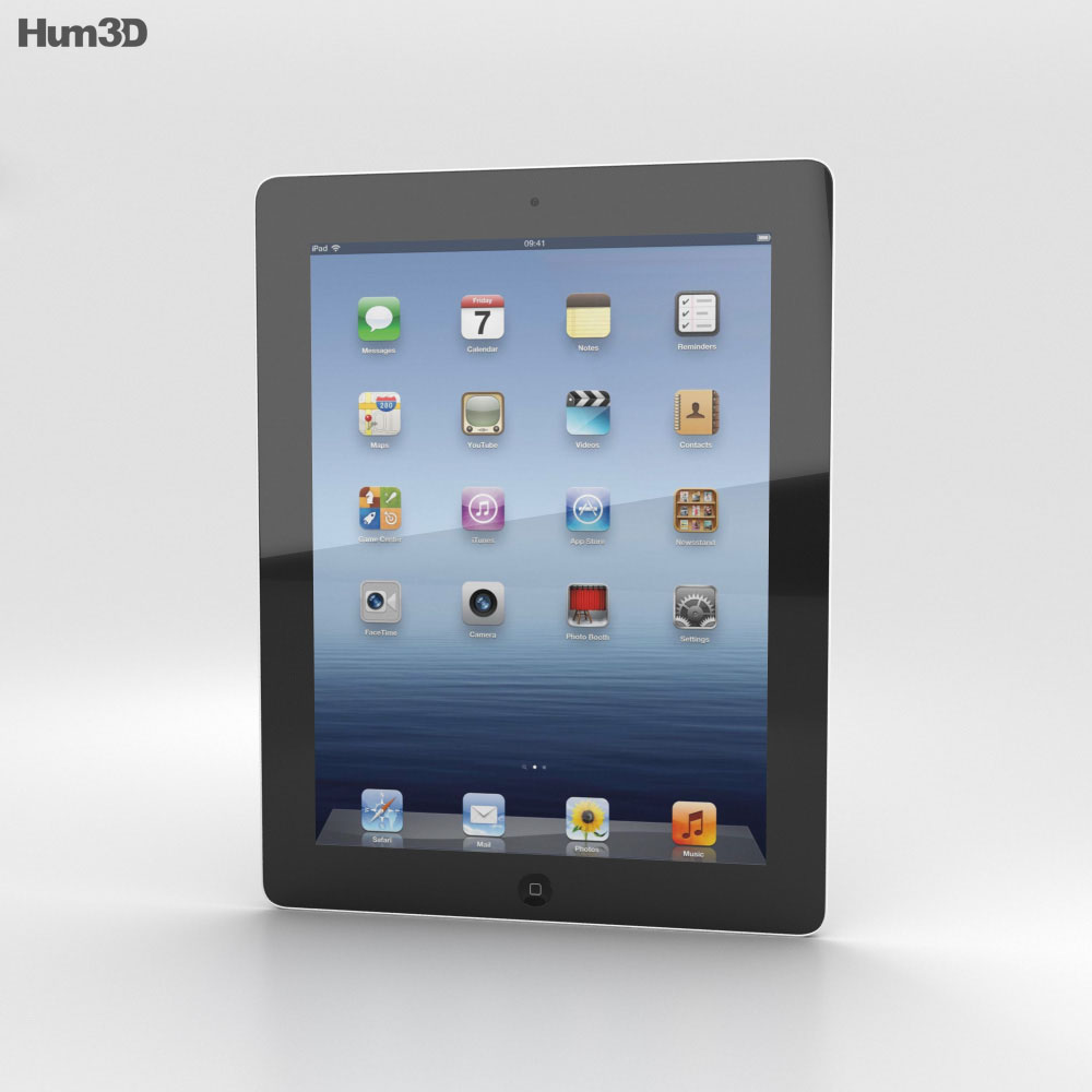 apple the new ipad wifi ipad 3 3d model humster3d. Black Bedroom Furniture Sets. Home Design Ideas