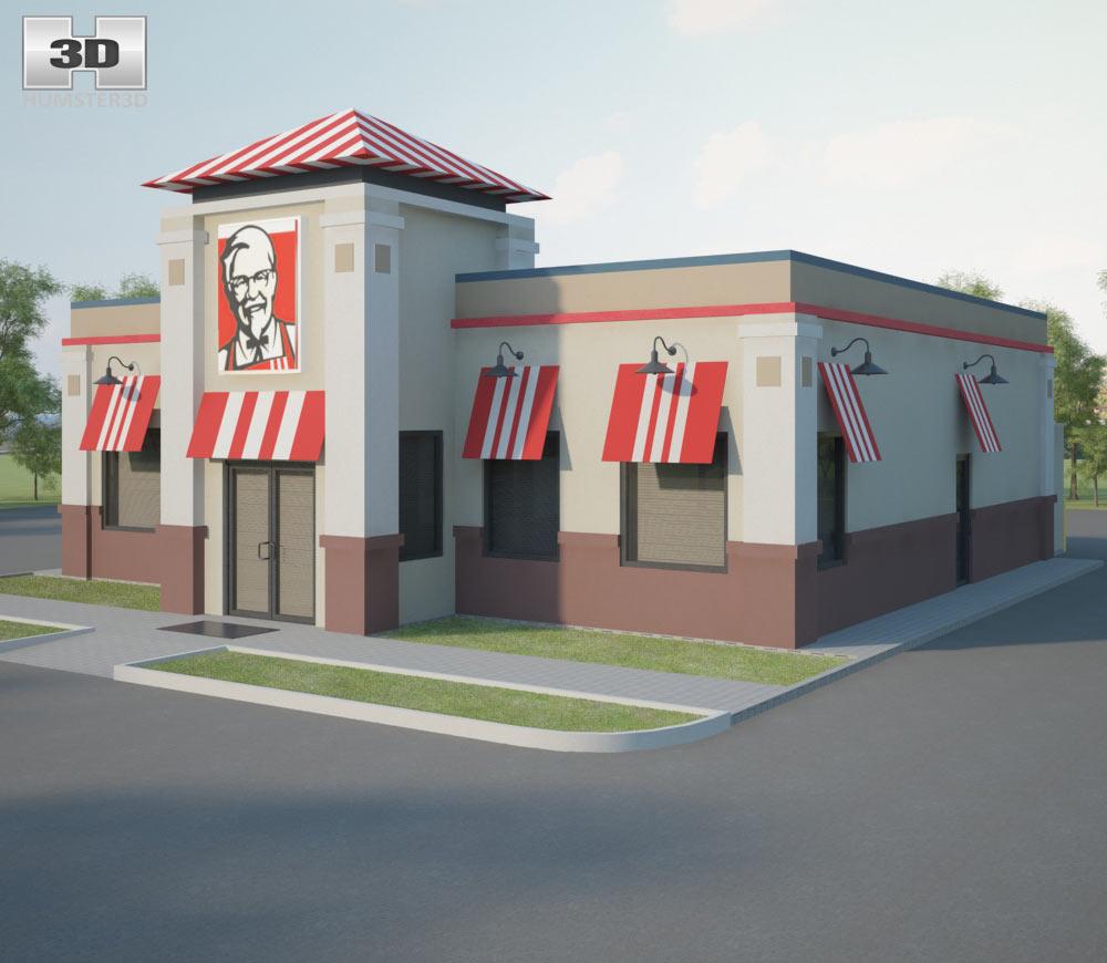 KFC Restaurant 01 3d model