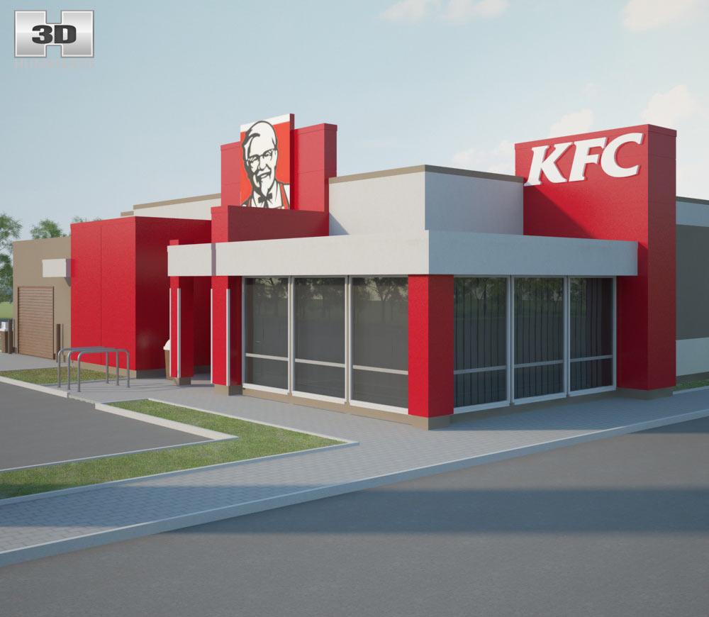 KFC Restaurant 02 3d model