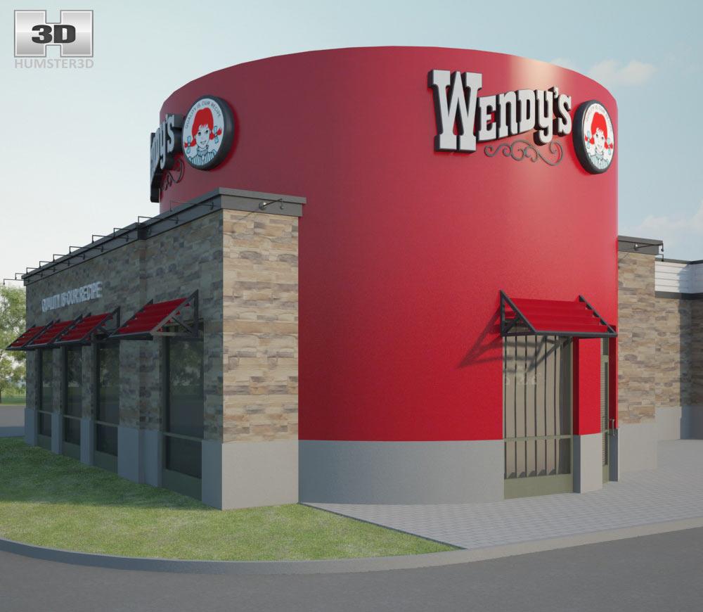 Wendy's Restaurant 02 3d model