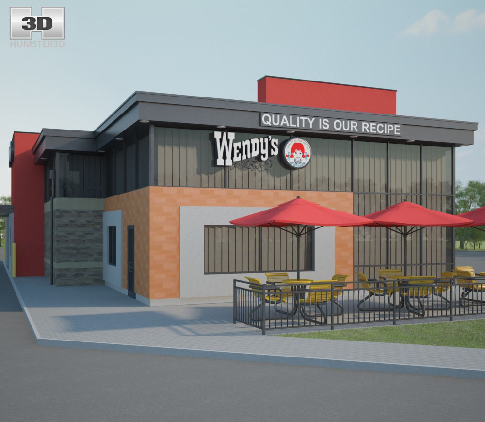Wendy's Restaurant 03 3d model