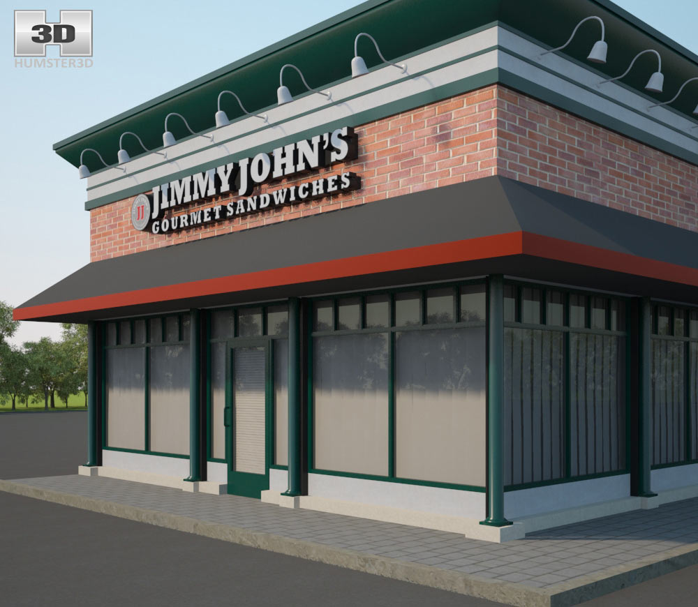 Jimmy John's Restaurant 01 3d model