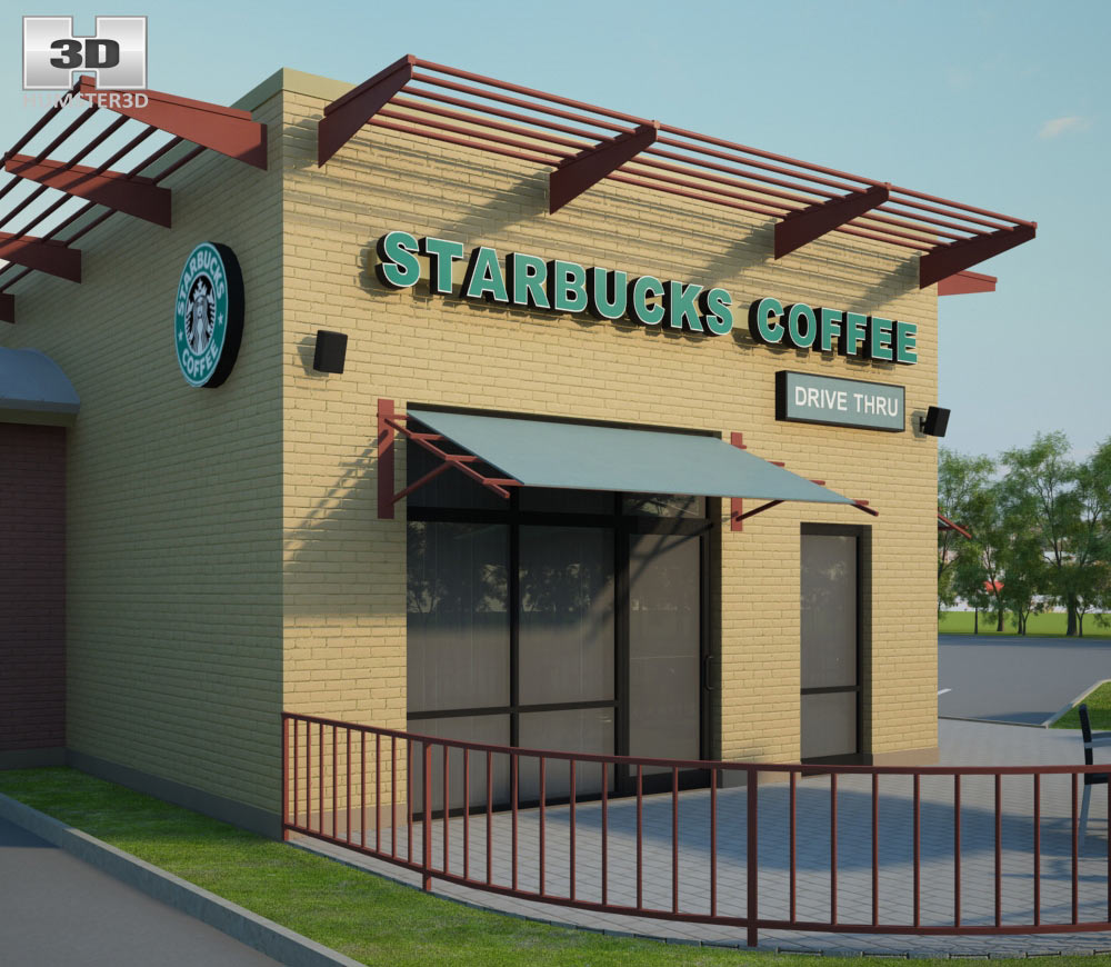 Starbucks Restaurant 02 3d model