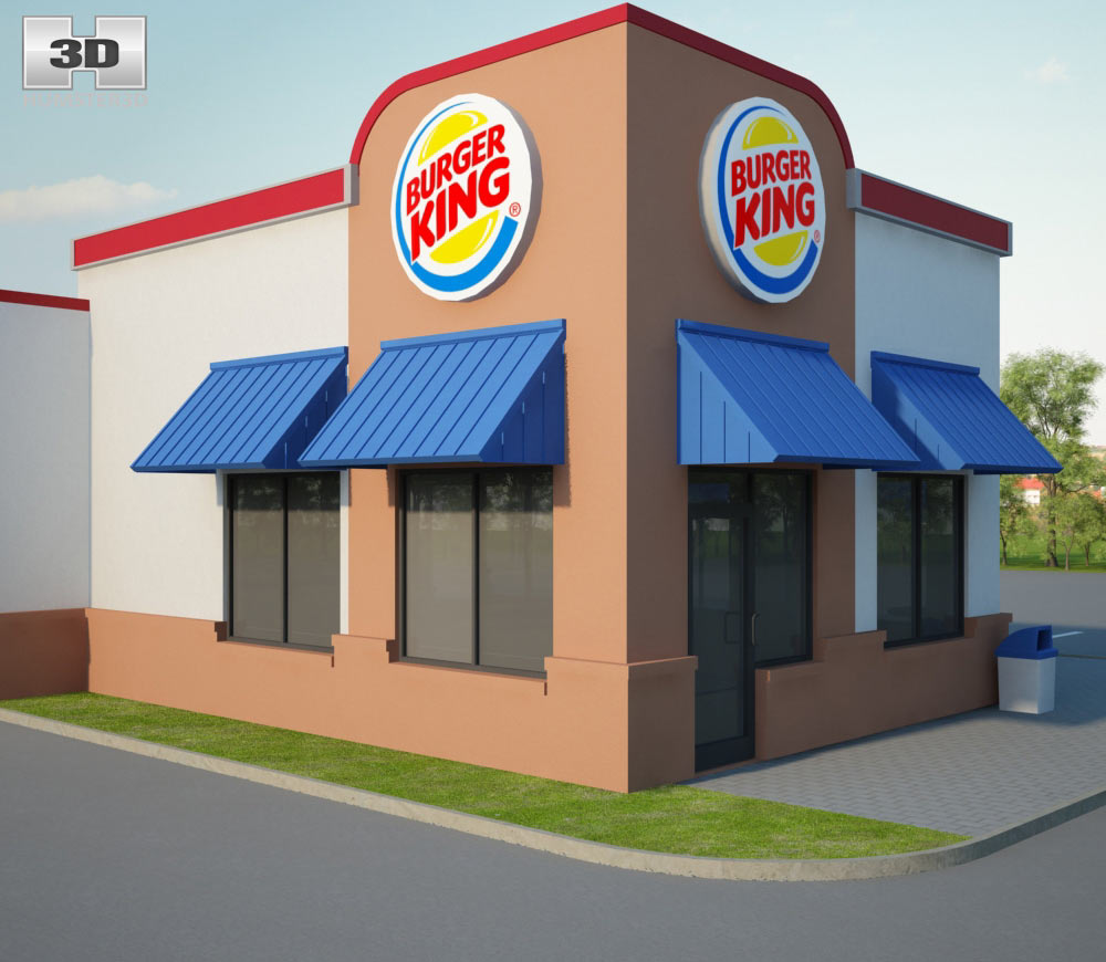 Burger King Restaurant 01 3d model