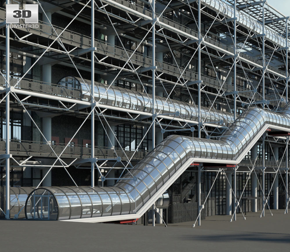 Centre Georges Pompidou 3d model