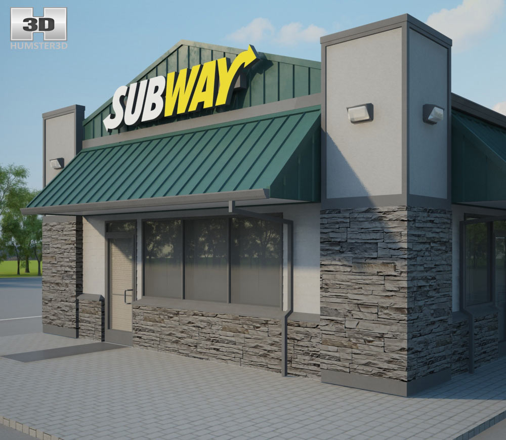 Subway Restaurant 03 3d model