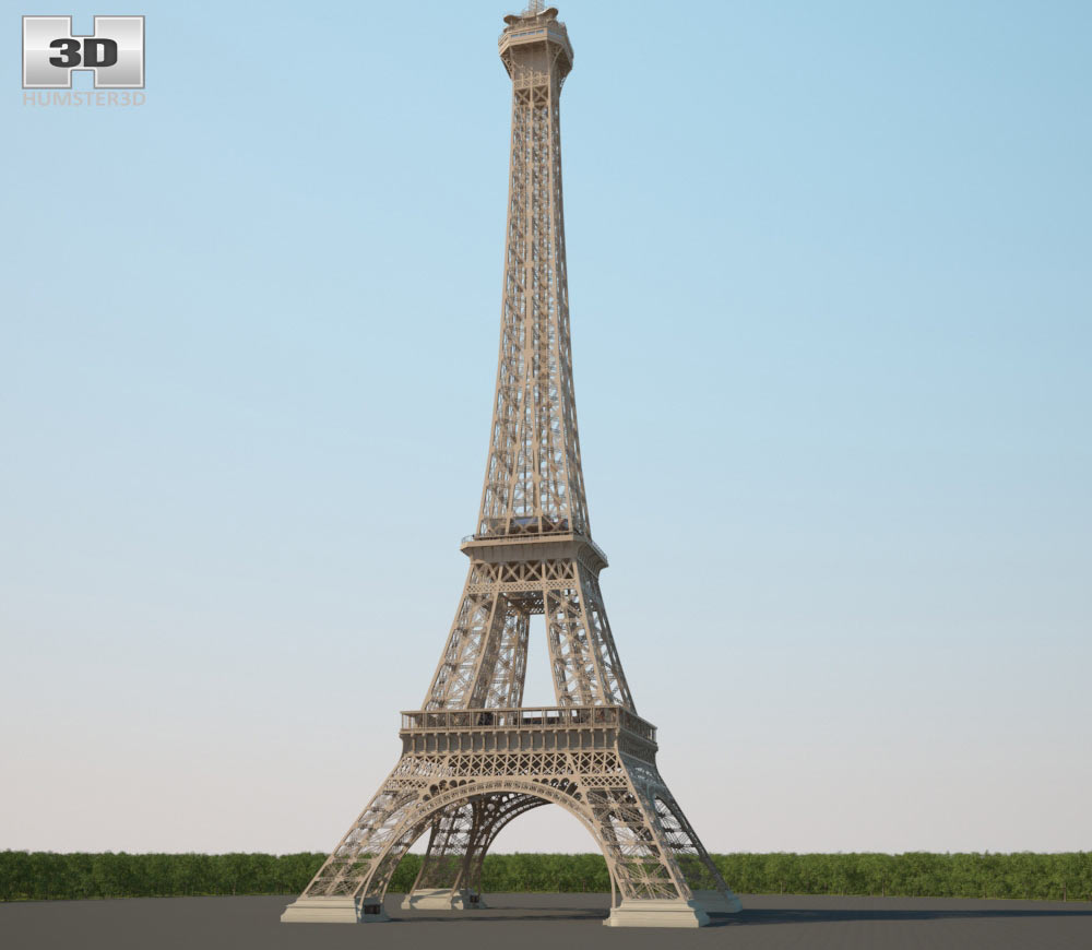 The Eiffel Tower 3d model