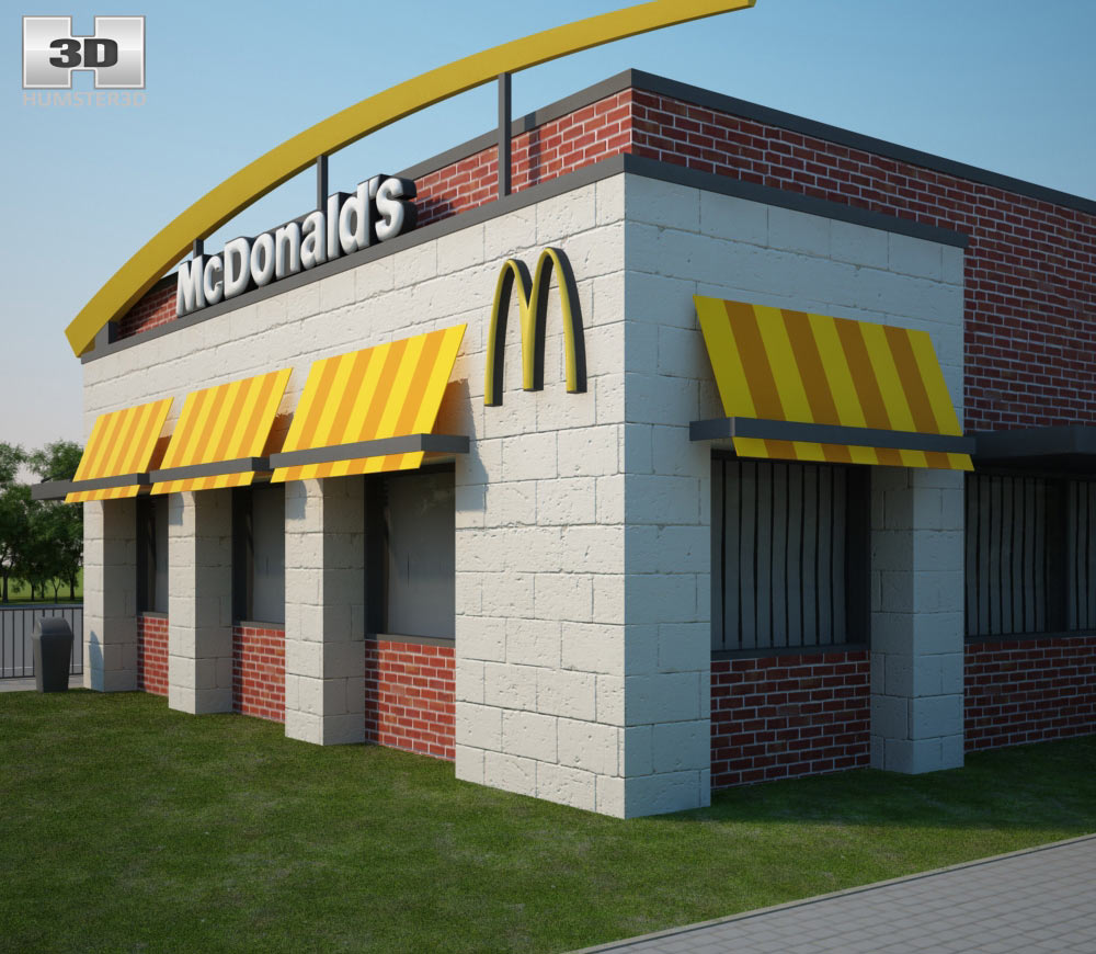 McDonald's Restaurant 02 3d model