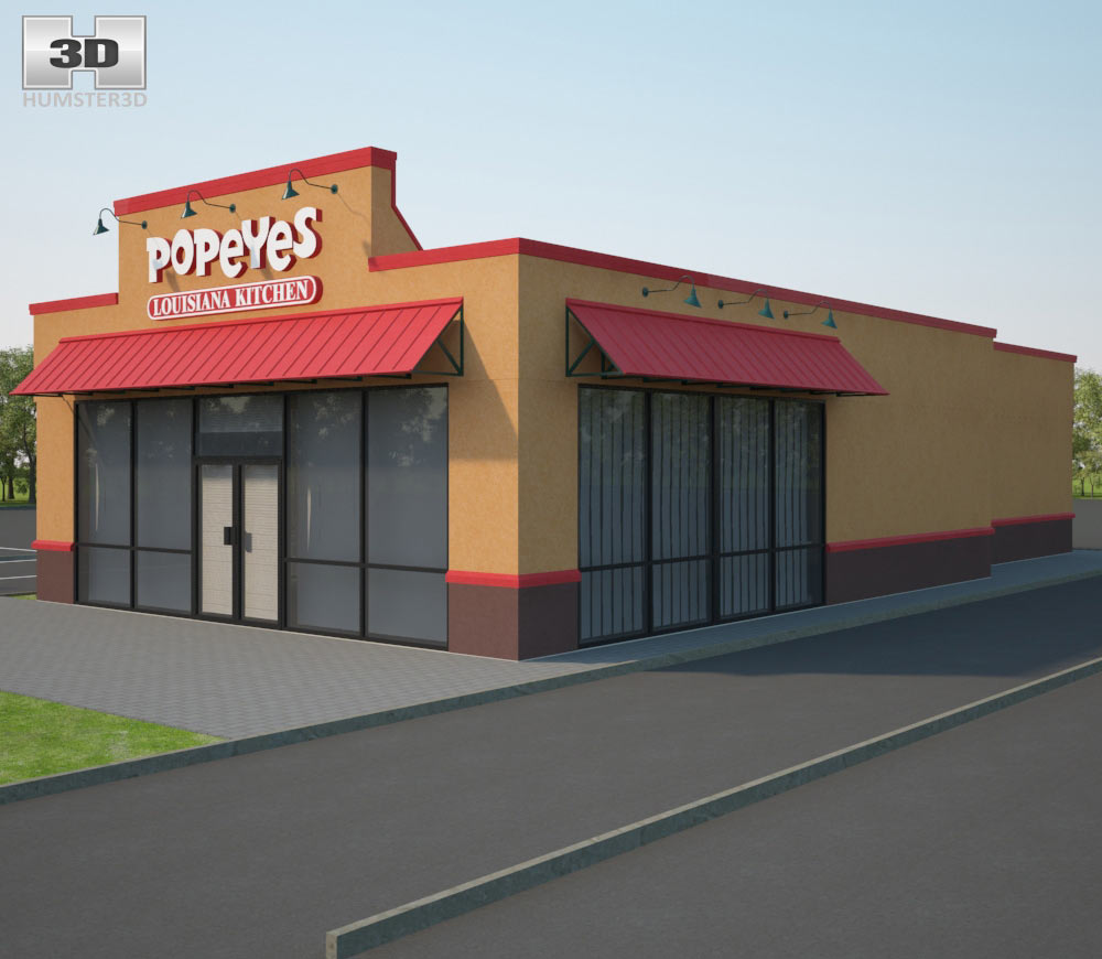 Popeyes Luisiana Kitchen 01 3d model