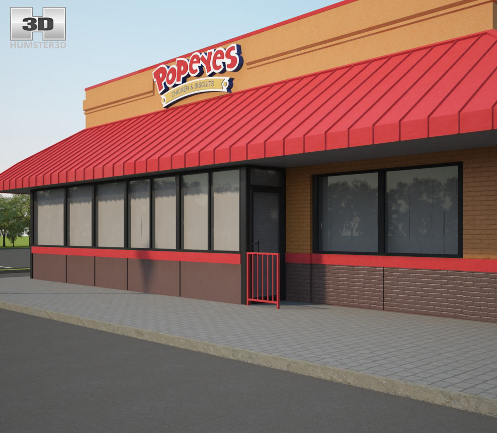 Popeyes Luisiana Kitchen 02 3d model