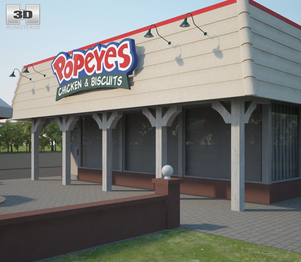 Popeyes Luisiana Kitchen 03 3d model