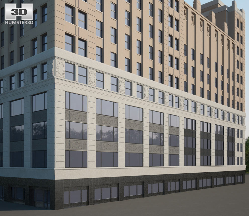 1501 Broadway 3d model