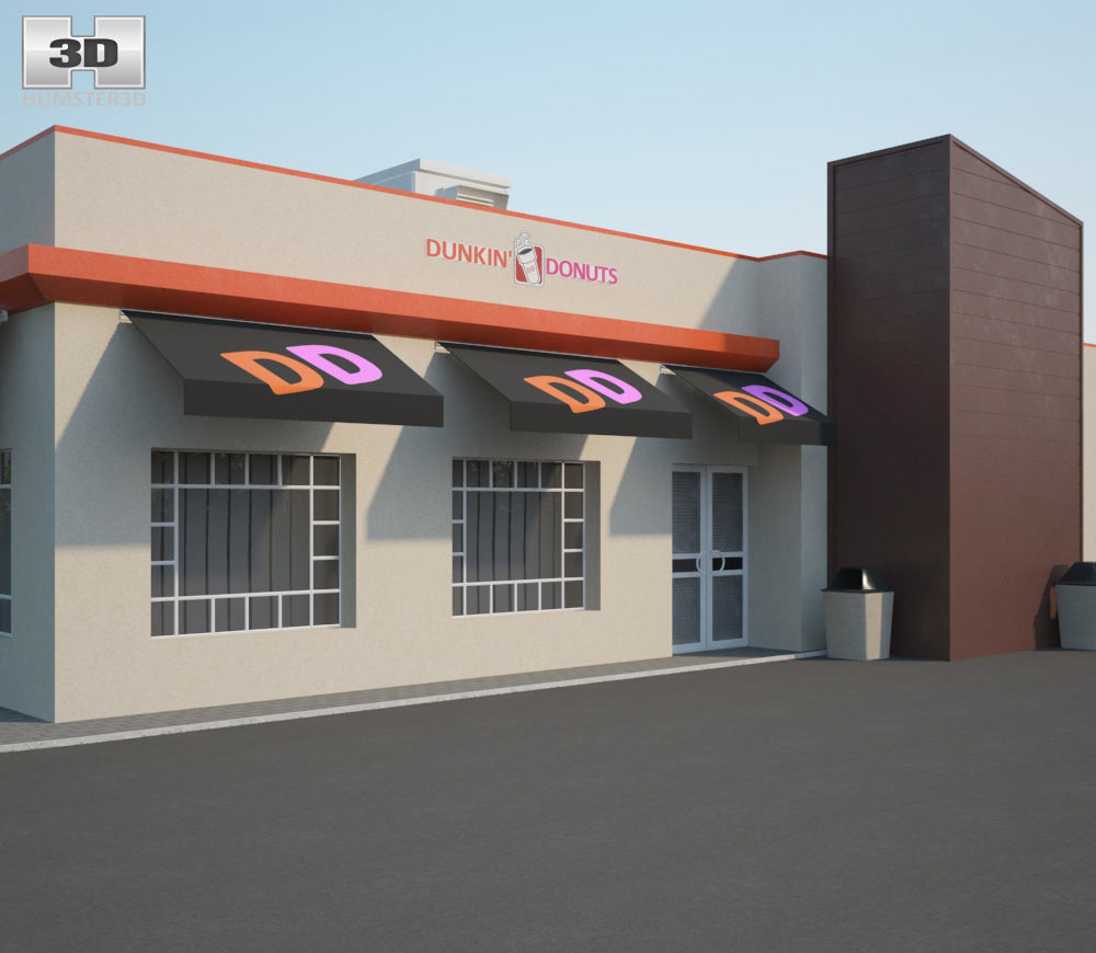 Dunkin' Donuts Restaurant 01 3d model