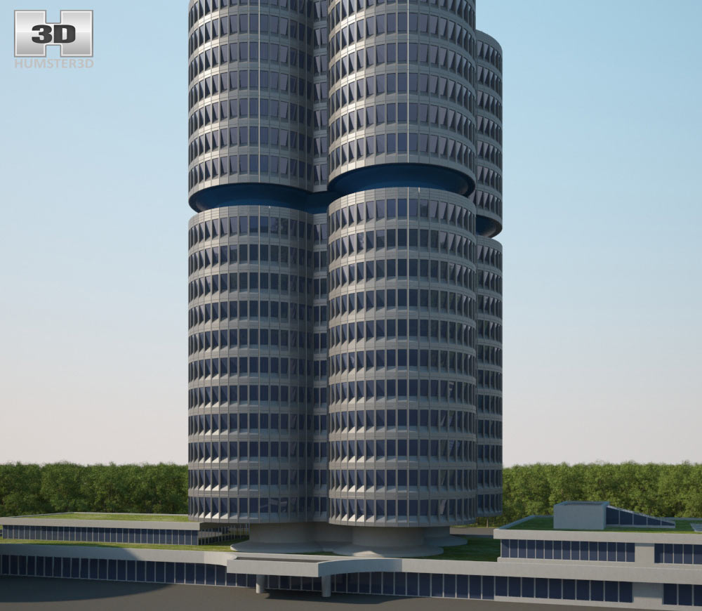 BMW Headquarters 3d model